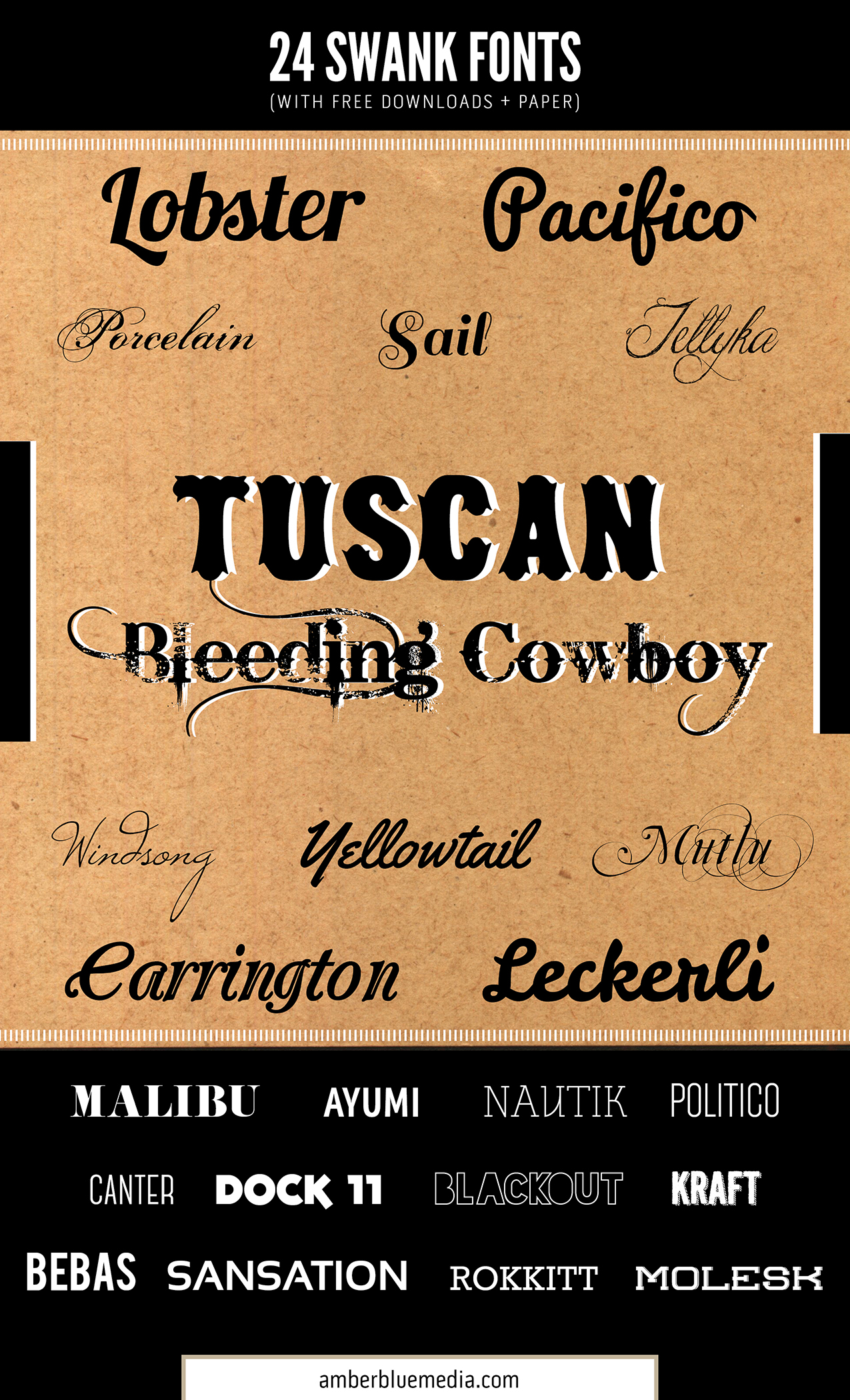 Trendy Swank Fonts