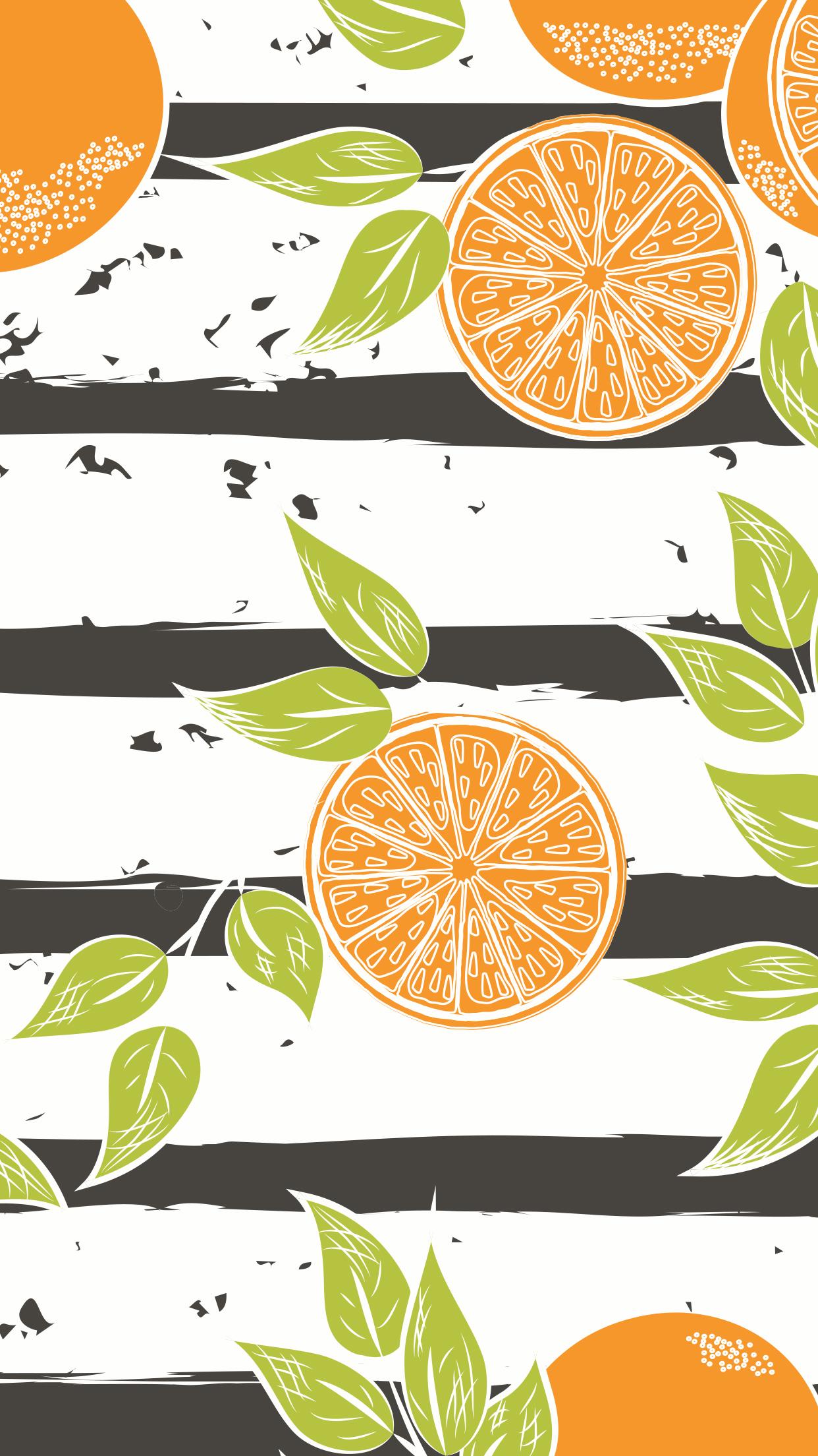orange mobile wallaper