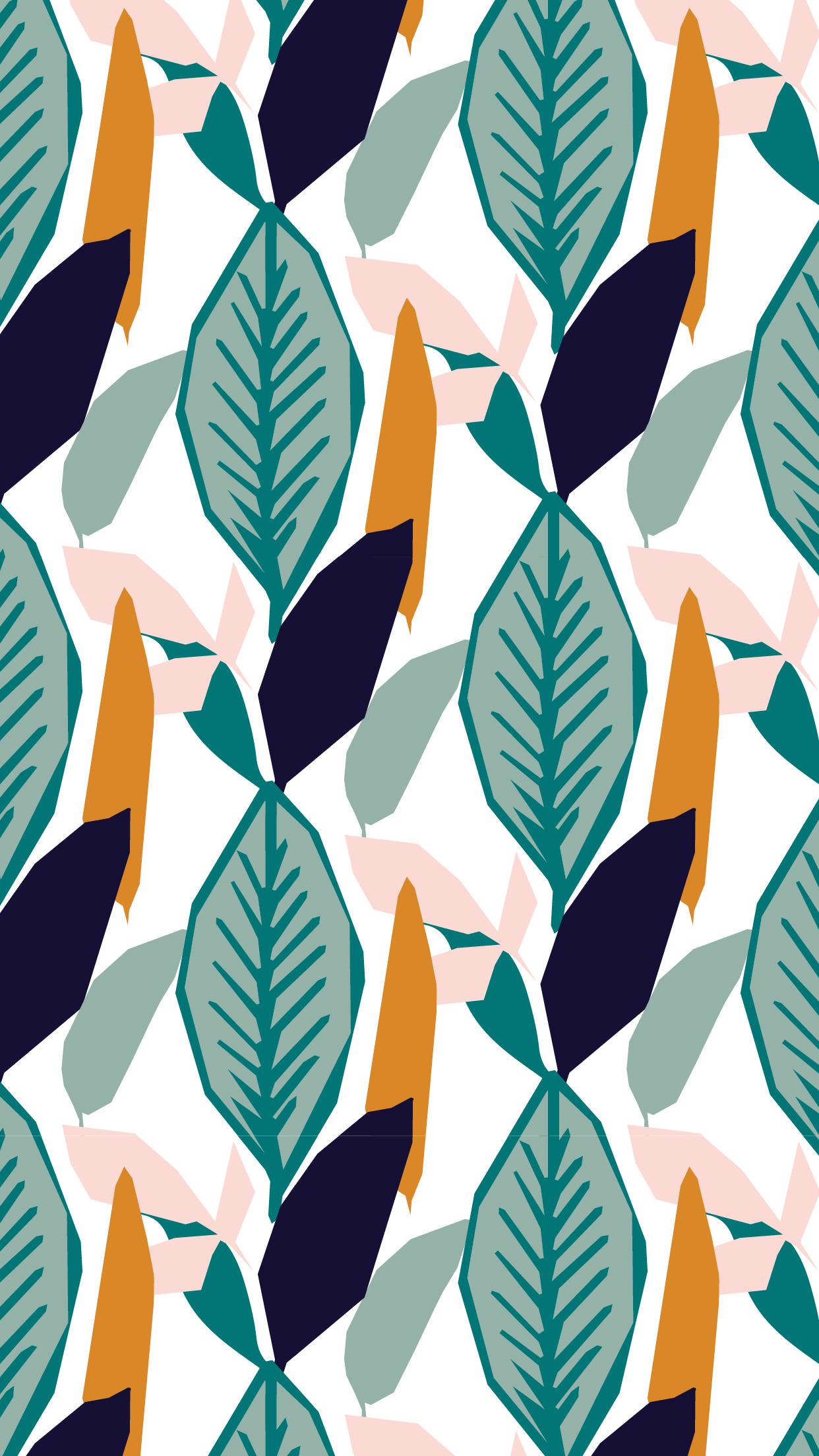 Tropical Leaves Mobile Wallpaper